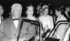 Charles (Charlie) Chaplin and his wife Oona with his daughters Geraldine and Josephinecirca 1960s - Image 0860_0717