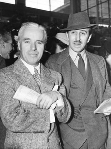 Charles Chaplin and Walt Disney at the race track1939** I.V. - Image 0860_0734