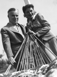 Charles Chaplin and Paulette Goddard at Louella Parsons country place 1941** I.V. - Image 0860_0771