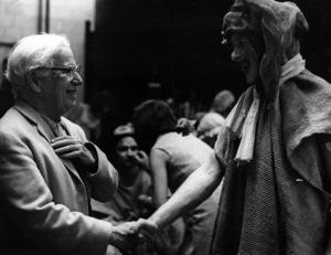 """Charles Chaplin visits the set of """"Marat / Sade""""1966** I.V. - Image 0860_0777"""
