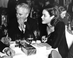Charles Chaplin and Gene Tierney at the Stork Club 1940** I.V. - Image 0860_0782