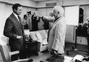 "Charles Chaplin talking with Marlon Brando on the set of ""A Countess from Hong Kong""1966** J.C.C. - Image 0860_0796"
