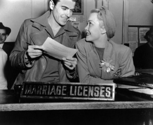 Ronald Reagan and first wife Jane Wyman1940MPTV - Image 0871_0023