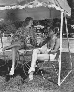 Ronald Reagan and wife Jane WymanC. 1940MPTV - Image 0871_0026