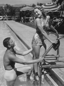 Ronald Reagan and wife Jane WymanC. 1940MPTV - Image 0871_0027
