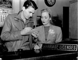 Ronald Reagan and Jane Wyman getting theirmarriage license1940MPTV - Image 0871_0039