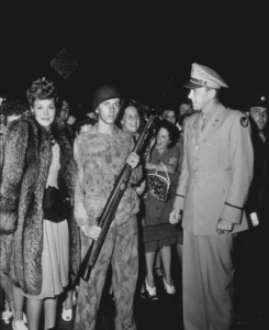 """Ronald Reagan and Jane Wyman at """"This Is The Army""""premiere1943MPTV - Image 0871_0050"""