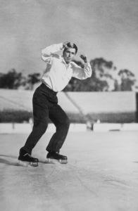 Ronald Reagan ice skatingC. 1942MPTV - Image 0871_0074