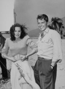 "Ronald Reagan and Viveca Lindfors on the set of ""Night Unto Night""1949 Warner Bros.MPTV - Image 0871_0095"