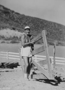 Ronald Reagan at his ranch in Northridge CaliforniaC. 1948MPTV - Image 0871_0102