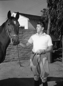 Ronald Reagan at his ranch in Northridge, Californiacirca 1948 - Image 0871_0104