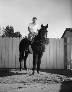 Ronald Reagan at his ranch in Northridge, California 1949 - Image 0871_0125