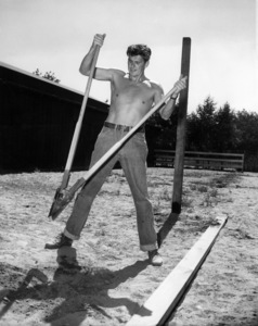 Ronald Reagan at his ranch in Northridge, California1949 - Image 0871_0127