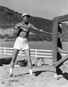 Ronald Reagan at his ranch in Northridge, Californiacirca 1948 - Image 0871_0129