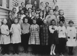 Ronald Reagan2nd row from the bottom - far leftTampico Elementary School  3rd and 4th gradesC. 1919MPTV - Image 0871_0225