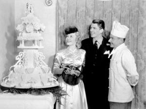 Ronald Reagan with first wife Jane Wymanon their wedding dayJanuary 26, 1940MPTV - Image 0871_1106