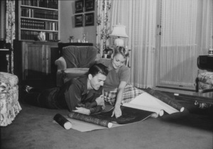 Ronald Reagan at home with first wife Jane WymanC. 1940MPTV - Image 0871_1109