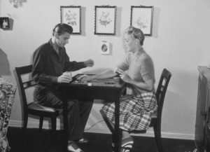 Ronald Reagan at home with first wife Jane WymanC. 1940MPTV - Image 0871_1114