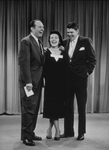 Ronald Reagan and wife Nancy Reagan on Art Linkletter