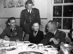 Ronald Reagan in uniform with first wife Jane WymanC. 1942MPTV - Image 0871_1169