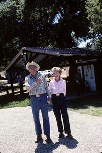 Ronald Reagan with wife, Nancy Reagan, at Rancho del Cielo in Santa Ynez, CA1980© 1980 Gunther - Image 0871_1590