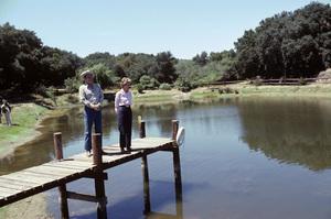 Ronald Reagan with wife, Nancy Reagan, at Rancho del Cielo in Santa Ynez, CA1980© 1980 Gunther - Image 0871_1593