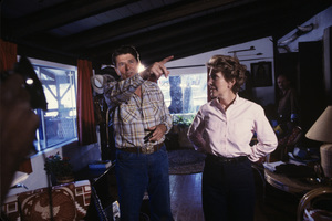 Ronald Reagan with wife, Nancy Reagan, at Rancho del Cielo in Santa Ynez, CA1980© 1980 Gunther - Image 0871_1599