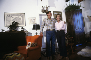 Ronald Reagan with wife, Nancy Reagan, at Rancho del Cielo in Santa Ynez, CA1980© 1980 Gunther - Image 0871_1600