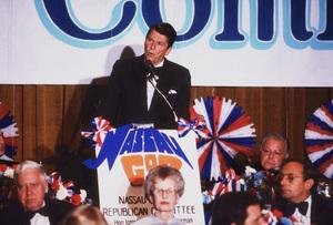 Ronald Reagan at Nassau GOP Republican committee event1979 © 1979 GuntherMPTV - Image 0871_1621