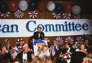 Ronald Reagan at Nassau GOP Republican committee event1979 © 1979 GuntherMPTV - Image 0871_1622