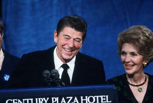 Ronald Reagan with wife Nancy Reagan at the CenturyPlaza HotelC. 1980 © 1980 GuntherMPTV - Image 0871_1637