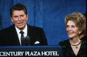 Ronald Reagan with wife Nancy Reagan at the CenturyPlaza HotelC. 1980 © 1980 GuntherMPTV - Image 0871_1639