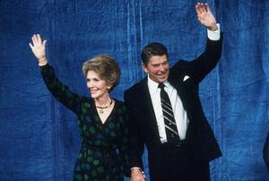 Ronald Reagan with wife Nancy Reagan at the CenturyPlaza HotelC. 1980 © 1980 GuntherMPTV - Image 0871_1640