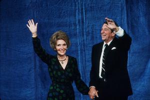 Ronald Reagan with wife Nancy Reagan at the CenturyPlaza HotelC. 1980 © 1980 GuntherMPTV - Image 0871_1641