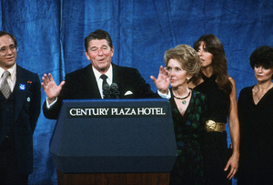 Ronald Reagan with wife Nancy and Patti Reagan at the Century Plaza HotelC. 1980 © 1980 GuntherMPTV - Image 0871_1642