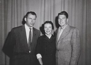 Ronald Reagan, wife Nancy Reagan and Marty HillApril 8, 1953 © 1978 Sid AveryMPTV - Image 0871_1661