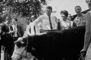 Ronald Reagan with wife Nancy Reagan campaigning ata county fairC. 1964-65 © 1978 Bud GrayMPTV - Image 0871_1710
