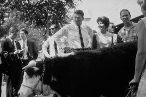 Ronald Reagan with wife Nancy Reagan campaigning ata county fairC. 1964-65 © 1978 Bud GrayMPTV - Image 0871_1710