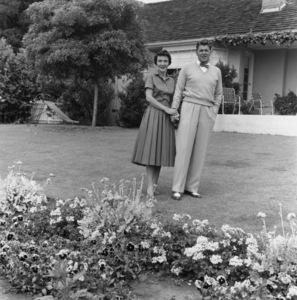 Ronald Reagan and Wife Nancy at Home6-27-1955 © 1978 Gabi Rona - Image 0871_1741