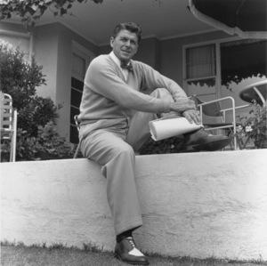 Ronald Reagan at Home6-27-1955 © 1978 Gabi Rona - Image 0871_1742