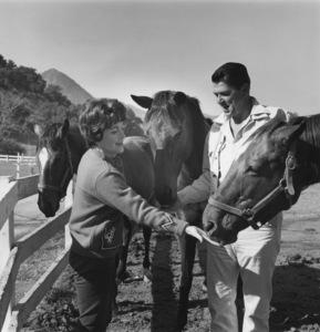 Ronald and Nancy Reagan at their ranch in the Santa Monica mountains circa 1966 © 1978 Gene Trindl - Image 0871_1745