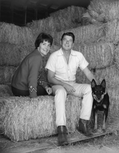 Ronald and Nancy Reagan at their ranch in the Santa Monica mountainscirca 1966© 1978 Gene Trindl - Image 0871_1750