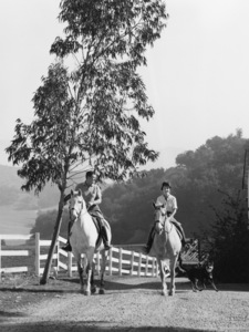 Ronald and Nancy Reagan at their ranch in the Santa Monica mountainscirca 1966© 1978 Gene Trindl - Image 0871_1754