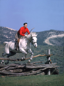Ronald Reaganat his Yearling Row Ranchin Malibu Canyon CA, 1965 © 1978 Gene Trindl - Image 0871_1794