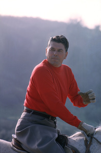 Ronald Reaganat his Yearling Row Ranchin Malibu Canyon CA, 1965 © 1978 Gene Trindl - Image 0871_1795