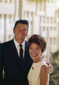 Ronald Reagan and wife Nancy Reagan at 1669 San Onofre Dr., Pacific Palisades, CA 1966 © 1978 John Engstead - Image 0871_1817