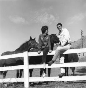 Ronald and Nancy Reagan at their ranch in the Santa Monica mountains circa 1966 © 1978 Gene Trindl - Image 0871_1825