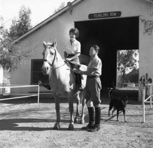 Ronald and Nancy Reagan at their ranch in the Santa Monica mountains circa 1966 © 1978 Gene Trindl - Image 0871_1826