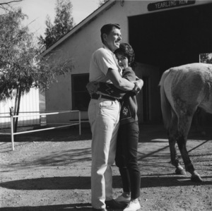 Ronald and Nancy Reagan at their ranch in the Santa Monica mountains circa 1966 © 1978 Gene Trindl - Image 0871_1828
