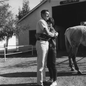 Ronald and Nancy Reagan at their ranch in the Santa Monica mountains circa 1966 © 1978 Gene Trindl - Image 0871_1828